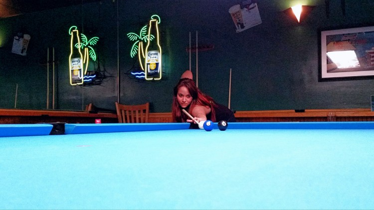 billiard shot